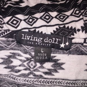 living doll Tops - [3 for 15] Living Doll Tribal Print Crop Top L